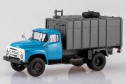 ЗИЛ-130 мусоровоз с боковой загрузкой КО-413, синий/серый (1/43)