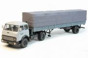 МАЗ-504В поздний + полуприцеп МАЗ-9380 (1/2), серый (1/43)