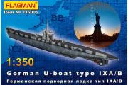 Подводная лодка German U-boat type IX A/B (1/350)