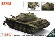 Танк Т-55С1 'Бублина' с минным тралом КМТ-6 (1/35)