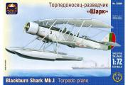 Самолет Blackburn Shark Mk.I торпедоносец-разведчик (1/72)