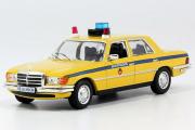 Mercedes-Benz W116 милиция СССР, желтый/синий (1/43)