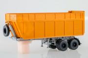 Полуприцеп-щеповоз МАЗ-9506-30, оранжевый (1/43)