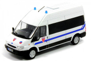Ford Transit полиция Франции, белый (1/43)