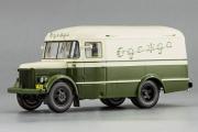 Автобус ПАЗ-661 Фургон для перевозки одежды 1956, белый/зеленый (1/43)