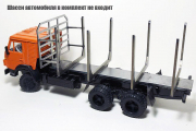 Надстройка сортиментовоз на КАМАЗ-53212 (1/43)