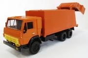 Камаз-53212 мусоровоз, оранжевый (Ручная доработка) (1/43)