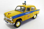 Москвич-410 Милиция СССР, желтый/синий (Ручная доработка) (1/43)