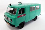 УАЗ-450А Милиция СССР, зеленый/красный (Ручная доработка) (1/43)
