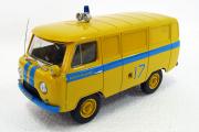 УАЗ-452 Милиция СССР, желтый/синий (Ручная доработка) (1/43)