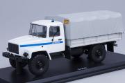 Горький-3308 бортовой с тентом 'Милиция' (ЗМЗ-513, СМУ), белый/серый (1/43)