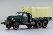ЗИС-151 бортовой с тентом 1951, зеленый/песочный (1/43)