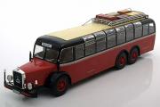 Автобус Mercedes-Benz O 1000 Baujahr 1939, красный/черный (1/43)
