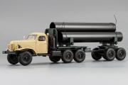 ЗИЛ-157К/ТВ-5 тягач с роспуском (трубовоз), бежевый (1/43)