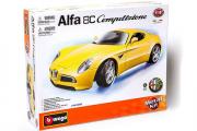 Alfa 8C Competizione 2007, желтый. Сборная модель (1/18)