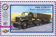 Автомобиль GMC CCW353. Тягач с полуприцепом (1/72)