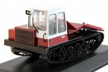 Трактор ТТ-4М гусеничный, белый/вишневый (1/43)