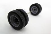 Покрышка + диск ГАЗель задние компл. 2 шт. с осью, серый (1/43)