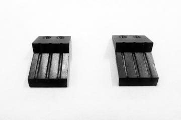 Брызговики Урал-4320 передние, черный компл. 2 шт. (1/43)