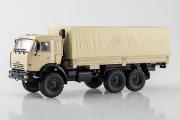 КАМАЗ-43118 бортовой с тентом 6х6, бежевый (1/43)