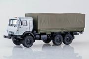 КАМАЗ-53501 бортовой с тентом 6х6, серый/хаки (1/43)