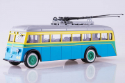 Троллейбус ЯТБ-1, синий/желтый (1/43)