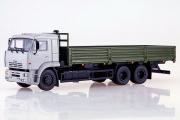 КАМАЗ-65117 бортовой, серый/зеленый (1/43)