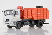 КАМАЗ-43253 мусоровоз с манипулятором МКМ-4503, серый/оранжевый (1/43)