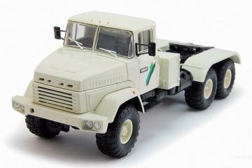 КрАЗ-6446 седельный тягач 6х6 1980, белый (1/43)