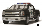 Chevrolet Silverado Police, черный/белый (1/46)