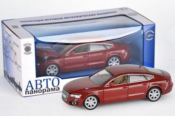 Audi A7, вишневый (свет, звук, инерция) (1/24)