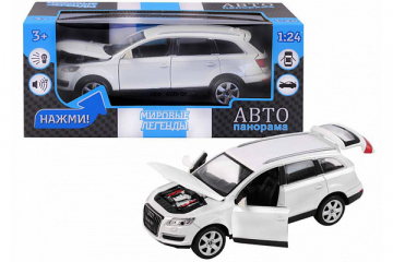 Audi Q7, белый (свет, звук, инерция) (1/24)