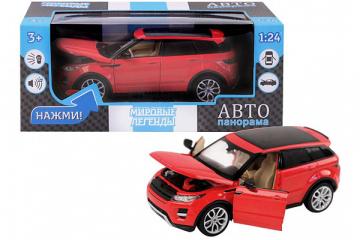 Range Rover Evoque, красный (свет, звук, инерция) (1/24)