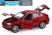 BMW X6, вишневый (свет, звук, инерция) (1/24)