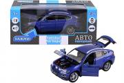 BMW X6, синий (свет, звук, инерция) (1/24)