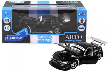 BMW Z4 GT3, черный (свет, звук, инерция) (1/24)