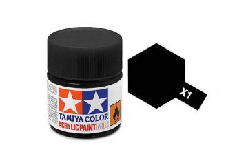Краска X-01 черная акрил глянцевая (Black) 10 мл.