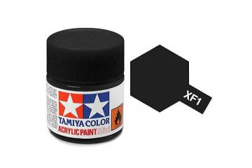 Краска XF-01 черная акрил матовая (Flat Black) 10 мл.