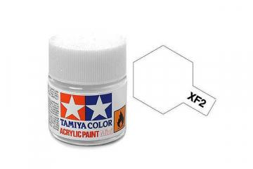 Краска XF-02 белая акрил матовая (Flat White) 10 мл.