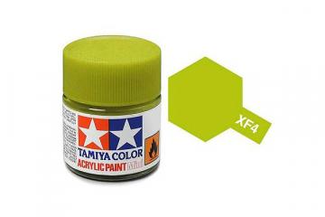 Краска XF-04 жёлто-зелёная акрил матовая (Flat Yellow Green) 10 мл.