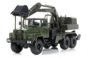КрАЗ-260 ЭОВ-4422 экскаватор, хаки. Покрашен полностью (1/43)