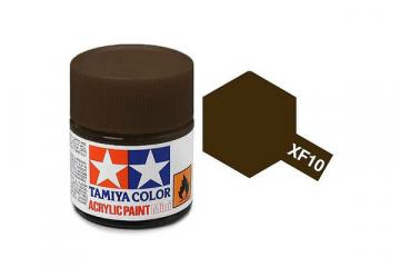 Краска XF-10 коричневая акрил матовая (Flat Brown) 10 мл.