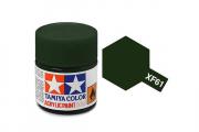 Краска XF-61 темно-зеленая акрил матовая (Flat Dark Green) 10 мл.