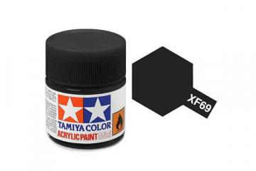 Краска XF-69 черная НАТО акрил матовая (Flat NATO Black) 10 мл.