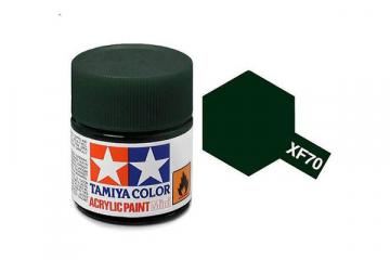 Краска XF-70 темно-зеленая акрил матовая (Flat Dark Green) 10 мл.