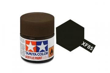 Краска XF-85 черная резина акрил матовая (Flat Rubber Black) 10 мл.