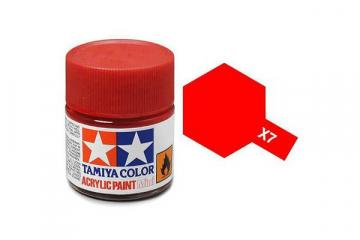 Краска X-07 красная акрил глянцевая (Red) 10 мл.