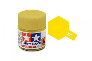 Краска X-08 лимонно-желтая акрил глянцевая (Lemon Yellow) 10 мл.