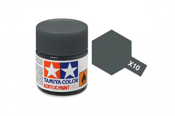 Краска X-10 орудийный металл акрил глянцевая (Gun Metal) 10 мл.