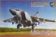 Самолет МИГ-25ПД (1/72)